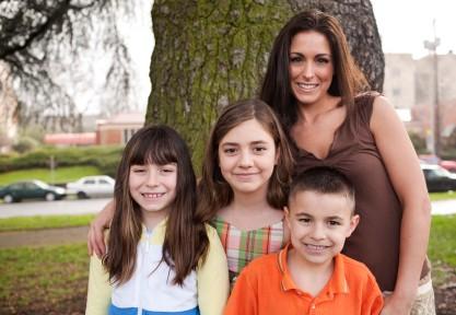 Lucie Muljar et ses enfants