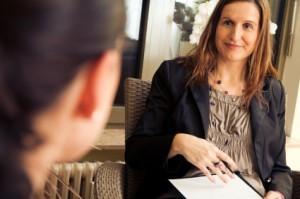 Une conseillère d'orientation-psychologue à l'oeuvre