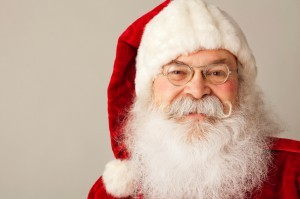 Close Up of Santa Claus Smiling.