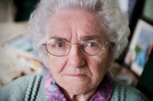 La vieille femme concernée