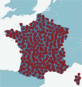 Emplacements présumés des personnes normales en France (ministère de l'intérieur)