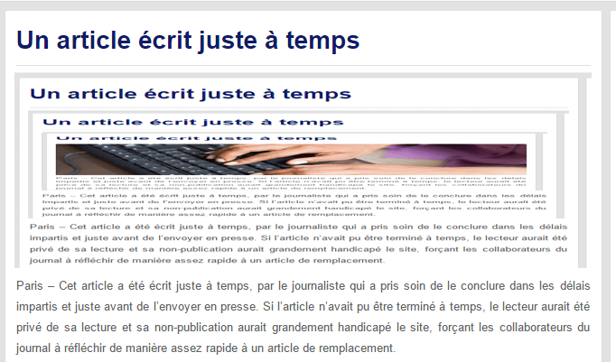 un article crit juste temps le gorafi news network. Black Bedroom Furniture Sets. Home Design Ideas