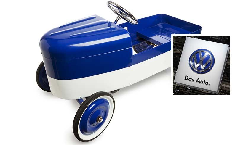 volkswagen avoue avoir plac des moteurs diesel sur des voitures p dales pour enfants le. Black Bedroom Furniture Sets. Home Design Ideas