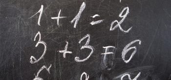 Mathematical decision on the school Blackboard.