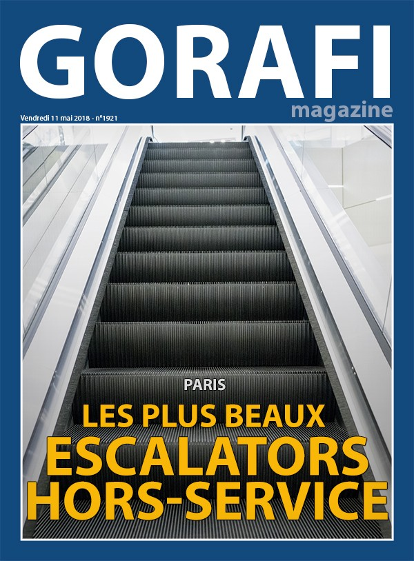 gorafi magazine paris les plus beaux escalators hors service le gorafi news network. Black Bedroom Furniture Sets. Home Design Ideas